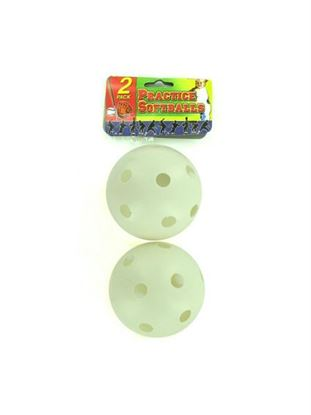 Picture of 2 pack plastic practice softball (Available in a pack of 24)