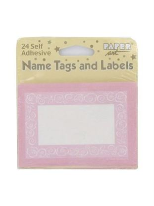 Picture of Self-adhesive tags and labels, pack of 24 (Available in a pack of 24)