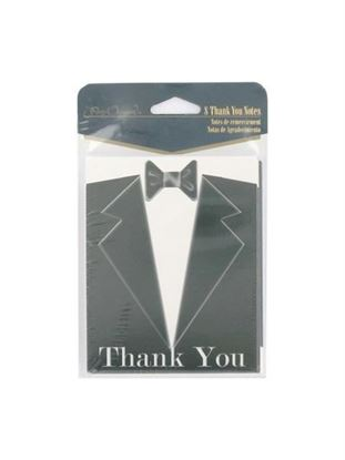 Picture of Black tie thank you notes, set of 8 (Available in a pack of 24)