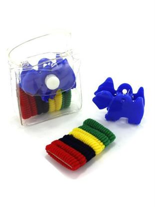 Picture of Hair accessory kit in plastic pouch, ties and claw (Available in a pack of 24)