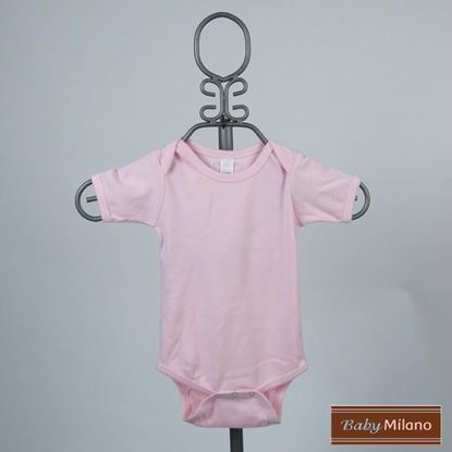 Picture of Light Pink Baby Onesie - Short Sleeve by Baby Milano
