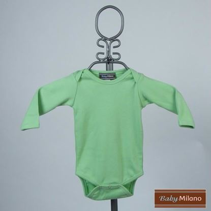 Picture of Lime Baby Onesie - Long Sleeve by Baby Milano