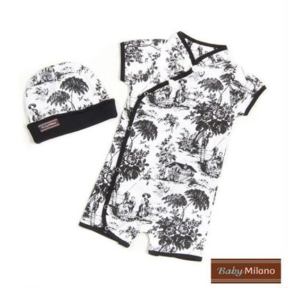 Picture of Black Toile- 2pc Baby Gift Set