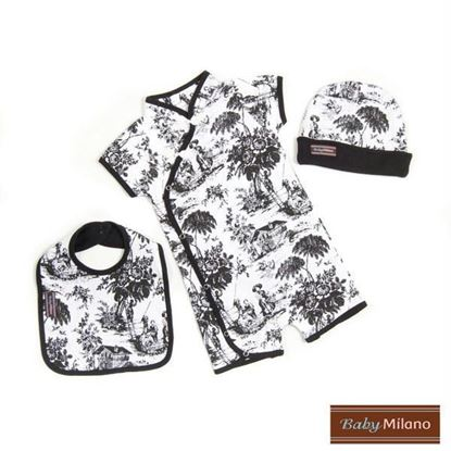 Picture of New Baby Gift Set - 3pc Black Toile