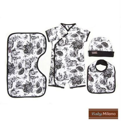 Picture of Black Toile Gift Set - 4 pc