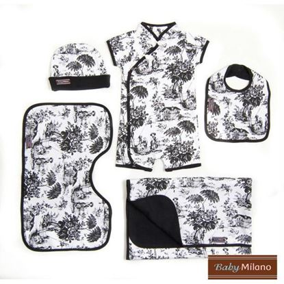 Picture of Toile Gift in Black- 5 pc