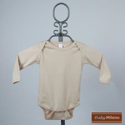 Picture of Tan Baby Onesie - Long Sleeve by Baby Milano