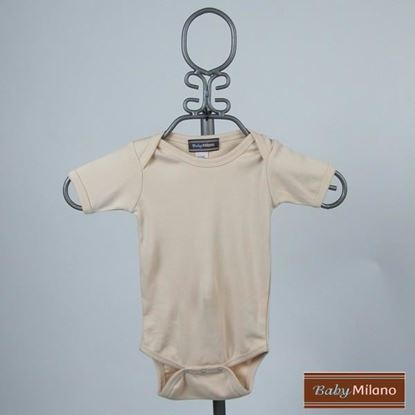 Picture of Tan Baby Onesie - Short Sleeve by Baby Milano