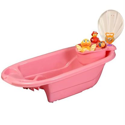 Picture of 2 in 1 Bath Tub with Toy Organizer by Potty Patty¿ - Pink for Girls