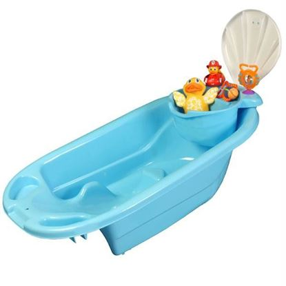 Picture of 2 in 1 Bath Tub with Toy Organizer by Potty Scotty¿ - Blue for Boys