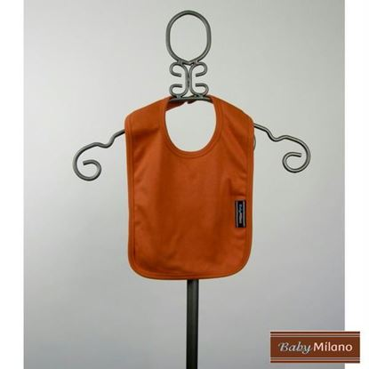 Picture of Burnt Orange Baby Bib by Baby Milano