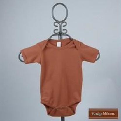 Picture of Burnt Orange Baby Onesie - Short Sleeve by Baby Milano