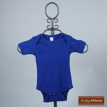 Picture of Royal Blue Baby Onesie - Short Sleeve by Baby Milano