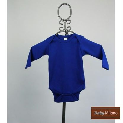 Picture of Royal Blue Baby Onesie - Long Sleeve by Baby Milano