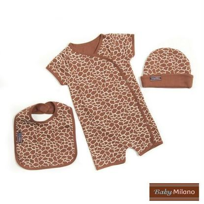 Picture of Baby Gift Set - Giraffe Print 3pc