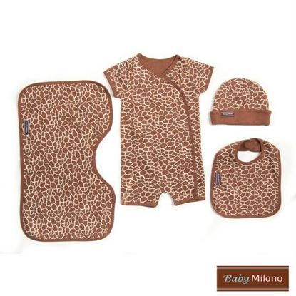 Picture of Baby Gift Giraffe Print - 4 pc
