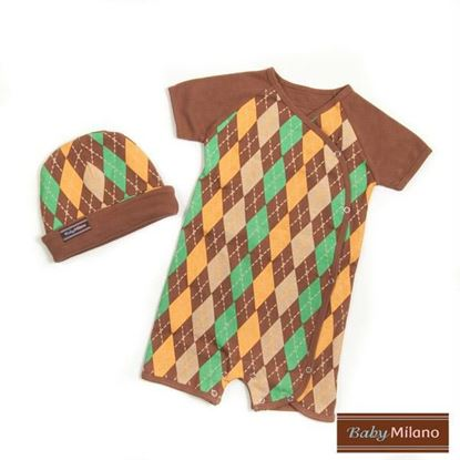 Picture of Brown Argyle Gift- Hat & Body Suit