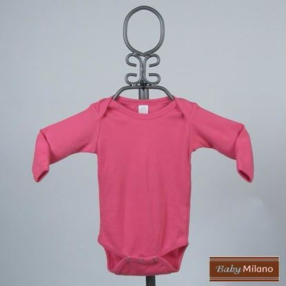 Picture of Fuchsia Baby Onesie - Long Sleeve by Baby Milano