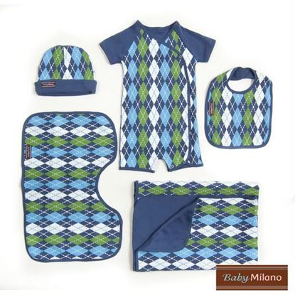 Picture of Argyle Gift Set- Blue 5 pc