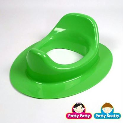 Picture of Green Potty Seat II by Potty Scotty & Potty Patty (Elongated)