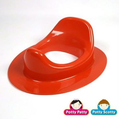 Picture of Red Potty Seat II by Potty Scotty & Potty Patty (Elongated)