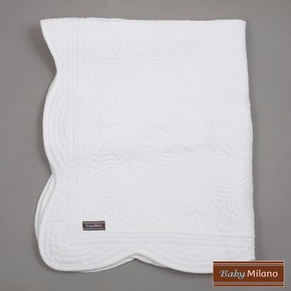 Picture of White Baby Quilt by Baby Milano