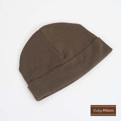 Picture of Brown Beanie Hat by Baby Milano