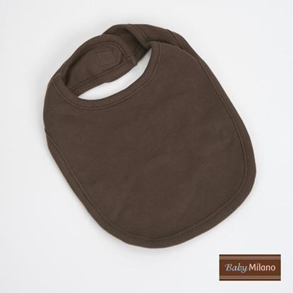 Picture of Brown Baby Bib by Baby Milano
