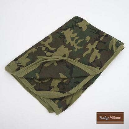 Picture of Baby Receiving Blanket by Baby Milano- Green Camo