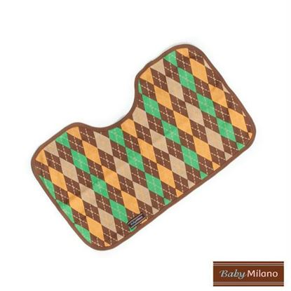 Picture of Brown Argyle Burp Cloth