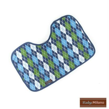 Picture of Blue Argyle Burp Cloth