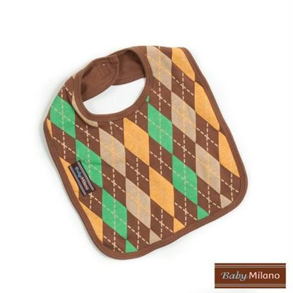 Picture of Argyle Bib - Brown