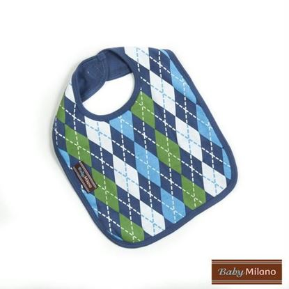 Picture of Argyle Bib - Blue
