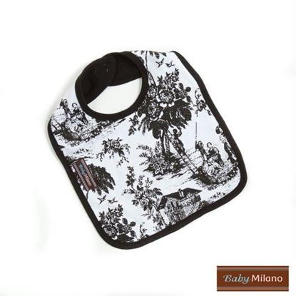 Picture of Black Toile Bib