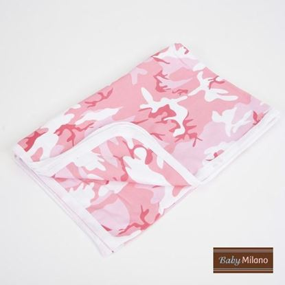 Picture of Baby Receiving Blanket by Baby Milano- Pink Camo