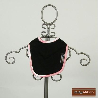 Picture of Black Bib with Pink Camo Trim by Baby Milano