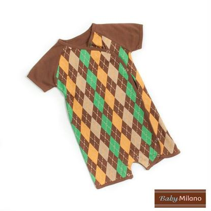 Picture of Brown Argyle Baby Romper