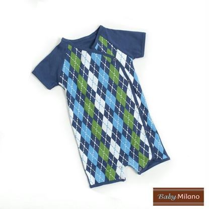 Picture of Blue Argyle Baby Romper