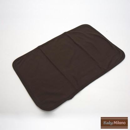 Picture of Baby Burp Cloth - Brown by Baby Milano