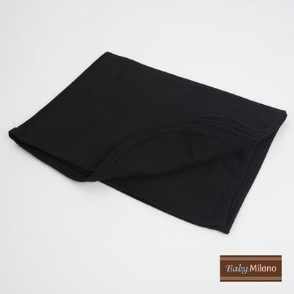 Picture of Baby Receiving Blanket by Baby Milano- Black
