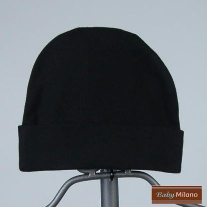 Picture of Black Baby Beanie Hat by Baby Milano