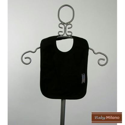 Picture of Black Baby Bib by Baby Milano