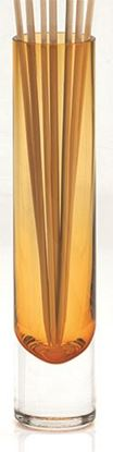 "Picture of AMBER BUD VASE 9"" CORRADO"