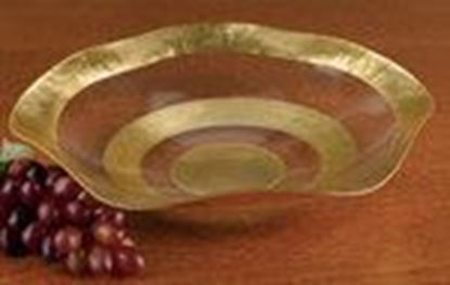 "Picture of 19"" RD GOLD LEAF WAVE BOWL"
