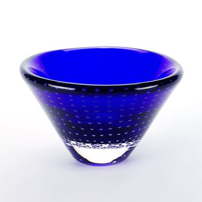 Picture of BOWL BLUE DOTS 6.5""
