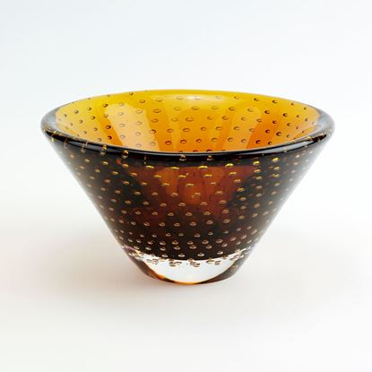 Picture of AMBER DOTS BOWL 6.5""