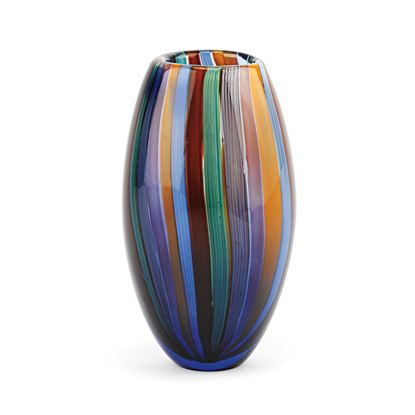 Picture of ART GLASS VASE RAINBOW 10""