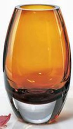 "Picture of AMBER VASE 9"" RADIANT"