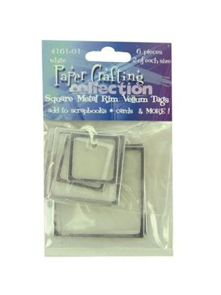 Picture of White vellum tags with metal rim, pack of 6 (Available in a pack of 30)