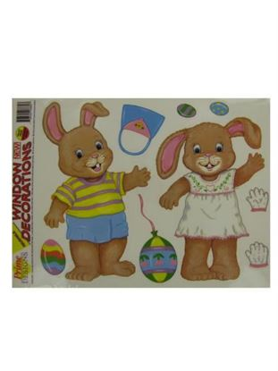Picture of Dress-up Easter bunny window clings (Available in a pack of 25)